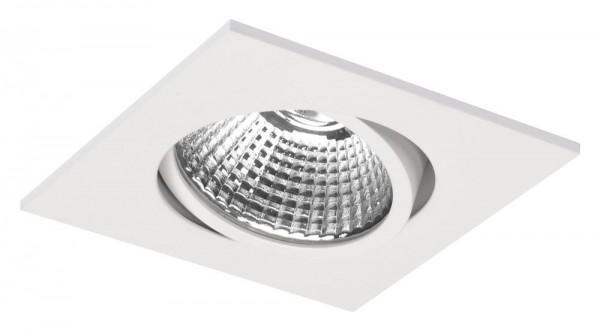 Smooth LED eckig tiltable 8,4W, weiß