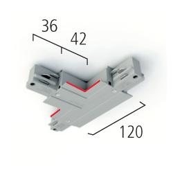 Eutrac T-Verbinder 3-Phasen Einbau