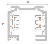 Eutrac 3-Phasen Stromschiene