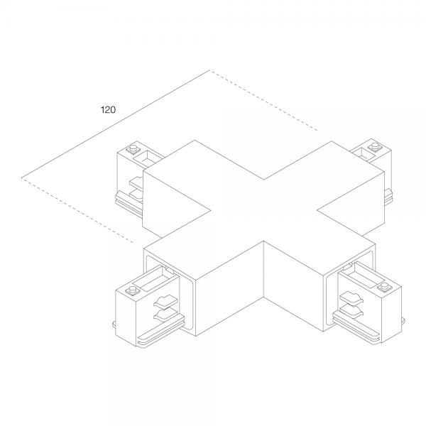 RZB Kreuzkupplung für 3-Ph-Stromschienen