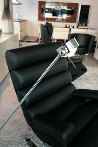 Puk Floor Maxi Single LED, chrom matt