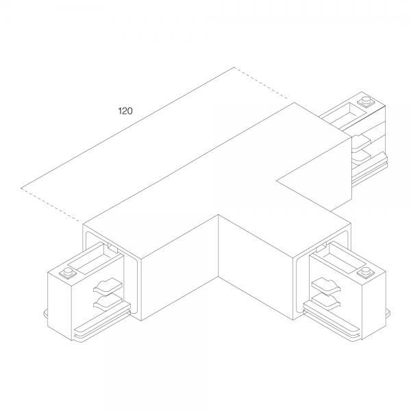 LTS Standard 3-PH Anbau T-Verbinder AL 7656