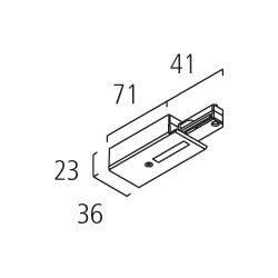 Einspeiser fuer 1-Phasen HV-Stromschiene
