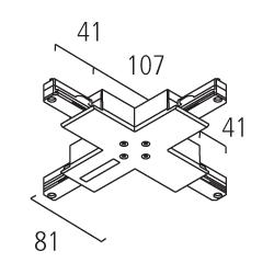 Eutrac 1-Phasen BUS X-Verbinder