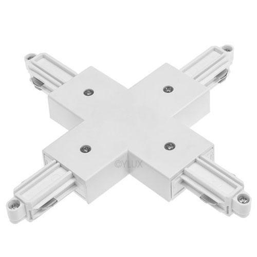 X-Verbinder weiss für 1-Phasen HV-Stromschiene, Aufbauversion