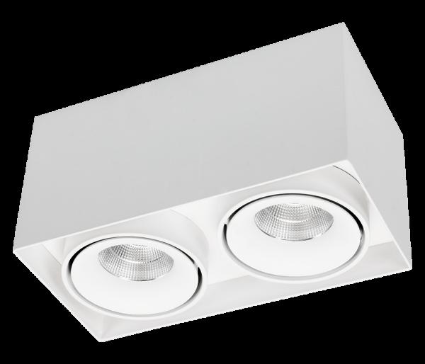 Caja Aufbau LED, Dreh/schwenkbar 2er