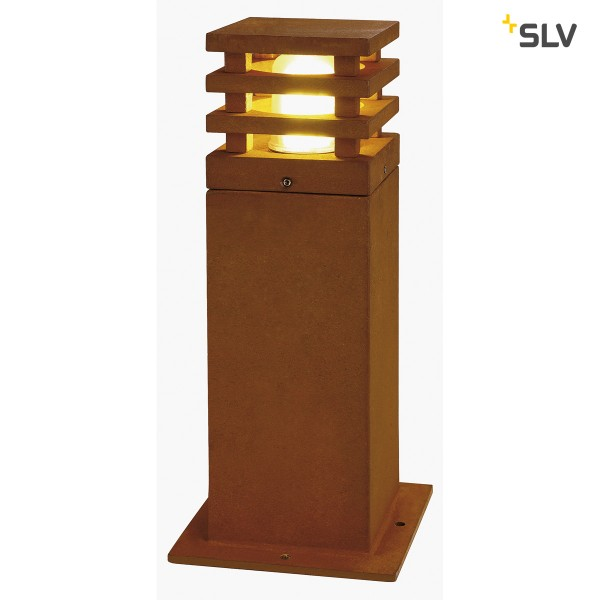 Rusty square LED 40cm