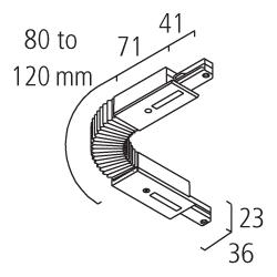 Eutrac 1-Phasen BUS Flex-Verbinder