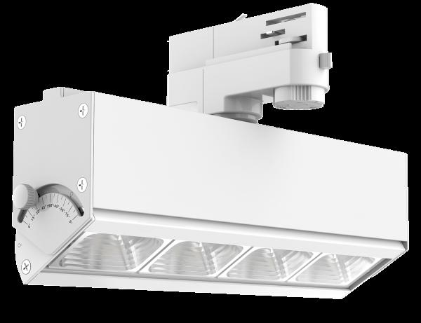 Brick LED Schienenstrahler mit 3-Phasen Adapter
