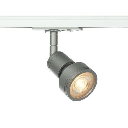 Common Leuchtenkopf silbergrau, GU10, max. 50W, inkl. 1P.-Adapter