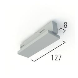 Eutrac 3-phasen Mitteleinspeiser, schwarz