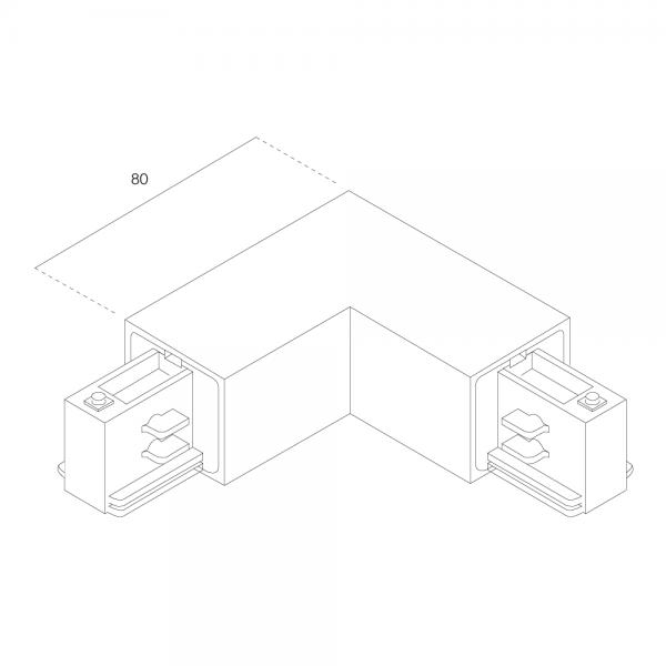 LTS Standard 3-PH Anbau L-Verbinder AL 7655