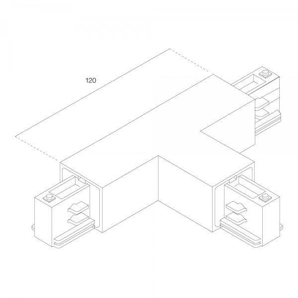 RZB T-Kupplung für 3-Ph-Stromschienen