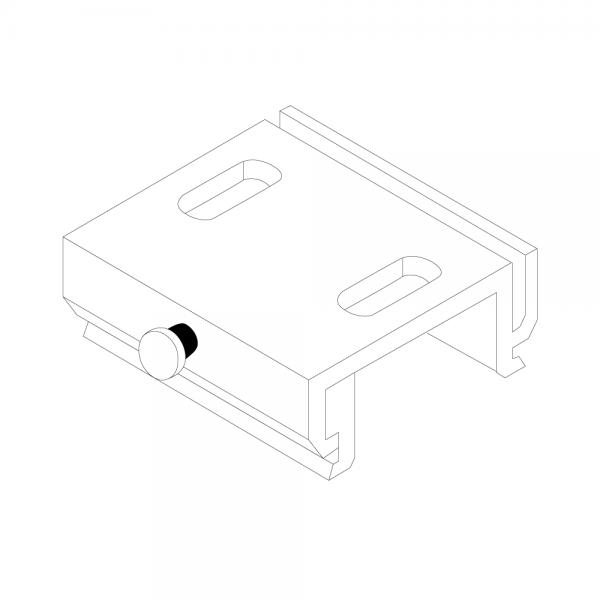 RZB Deckenbefestigung alu-nat für 3 Phasenschiene