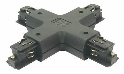 3-phasen X-Verbinder, weiß, rund, 230V