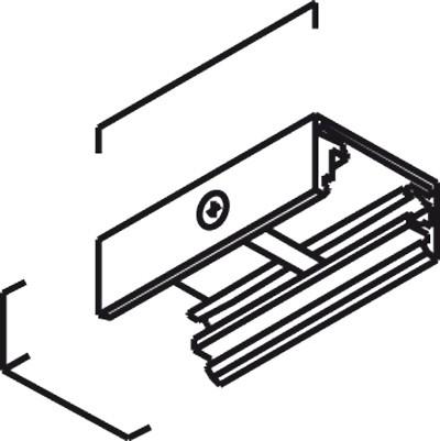 Eutrac Befestigungsklammer für die 3 PH Aufbauschiene